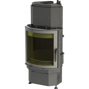ABX - teplovodná krbová vložka - DERBY Aqua - Panorama - 12 kW