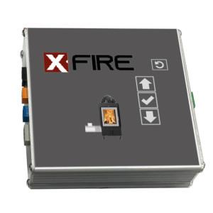 FireControls - Elektronická regulácia - Regulácia X-FIRE H2O, s klapkou, biely displej, SK