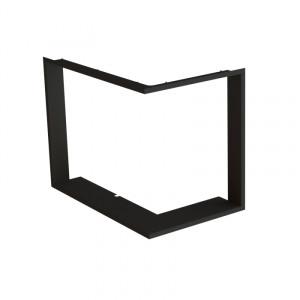 Bef Home - Zabudovací RÁMČEK 1x90 ° HĹBKA 60MM, ČIERNY, BEF THERM V 8 CP/CL
